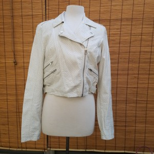 Top Shop White Leather Jacket
