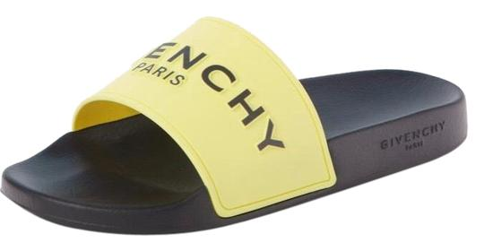 Preload https://img-static.tradesy.com/item/26039407/givenchy-yellow-logo-slide-flats-40-sandals-size-us-10-regular-m-b-0-5-540-540.jpg