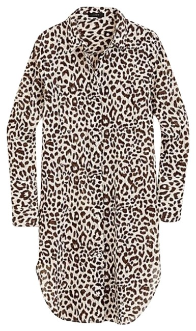 Item - Beige Leopard Cover-up/Sarong Size 12 (L)