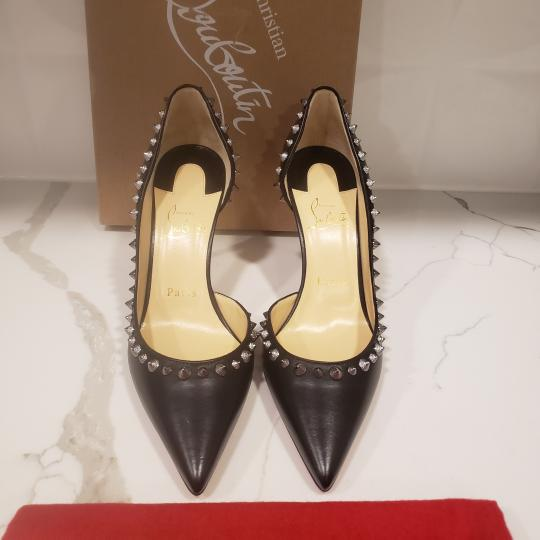 Christian Louboutin Heels Studded Spiked D'orsay Beige Silver Pumps Image 4