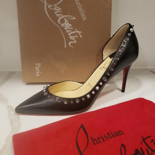 Christian Louboutin Heels Studded Spiked D'orsay Beige Silver Pumps Image 5