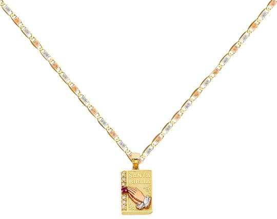 Preload https://img-static.tradesy.com/item/26039457/tri-color-14k-cz-praying-hands-pendant-with-15mm-valentono-chain-16-necklace-0-4-540-540.jpg