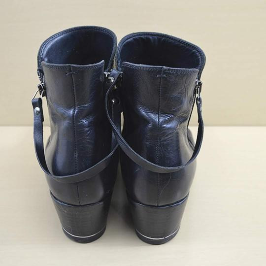 I.N.K. Leather Fall Winter BLACK Boots Image 3