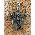 Harlembling Harlembling 925 Silver Dripping Cross Diamond Hip Hop Pendant Image 4