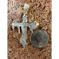 Harlembling Harlembling 925 Silver Dripping Cross Diamond Hip Hop Pendant Image 5