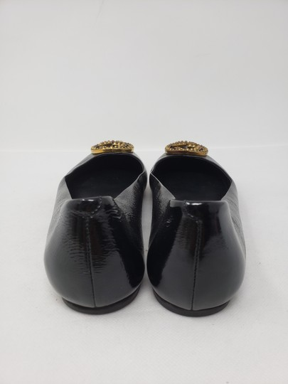 Gucci Studded Spike Gold Hardware Gg Guccissima Black Flats Image 9