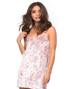 Crushed Pink Velvet Maxi Dress by Show Me Your Mumu