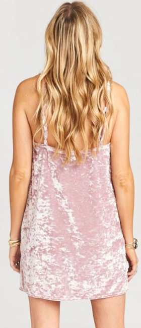 Crushed Pink Velvet Maxi Dress by Show Me Your Mumu Image 3