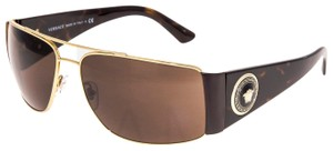 Versace VERSACE Square Wrap VE2163 Tortoise Brown Gold Mirrored 2163
