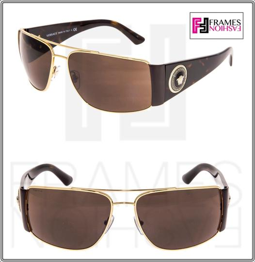Versace VERSACE Square Wrap VE2163 Tortoise Brown Gold Mirrored 2163 Image 1