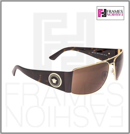 Versace VERSACE Square Wrap VE2163 Tortoise Brown Gold Mirrored 2163 Image 2