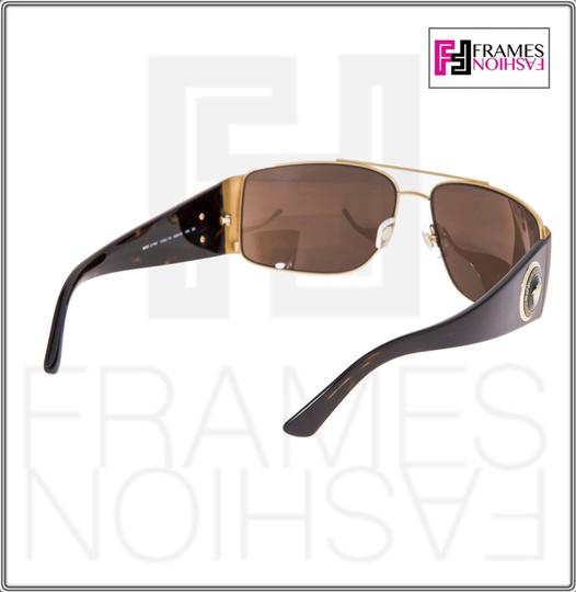 Versace VERSACE Square Wrap VE2163 Tortoise Brown Gold Mirrored 2163 Image 4
