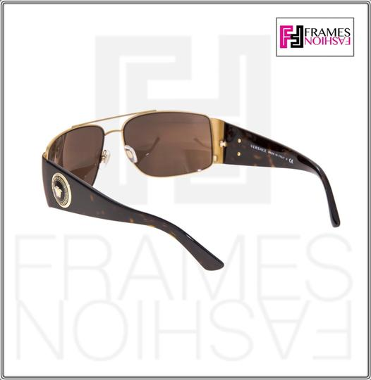 Versace VERSACE Square Wrap VE2163 Tortoise Brown Gold Mirrored 2163 Image 5