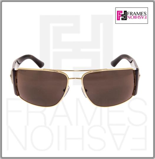 Versace VERSACE Square Wrap VE2163 Tortoise Brown Gold Mirrored 2163 Image 6