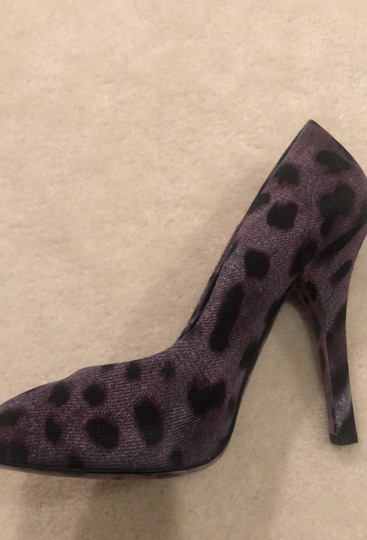 Dolce&Gabbana Purple Leopard Pumps Image 8