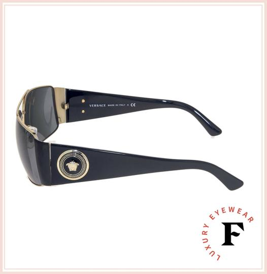 Versace VERSACE Square Wrap VE2163 Black Gold Mirrored Unisex 2163 Image 1