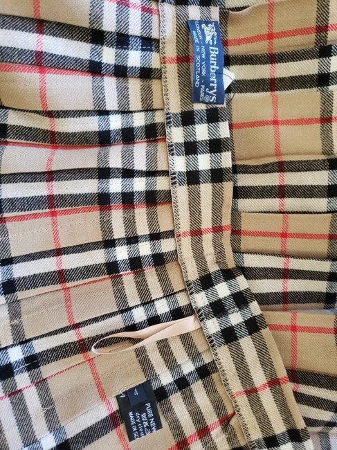 Burberry Belted Gold Hardware Nova Check Plaid House Check Skirt Beige Image 11