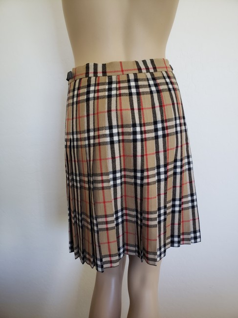 Burberry Belted Gold Hardware Nova Check Plaid House Check Skirt Beige Image 8
