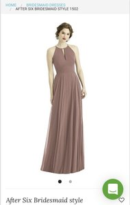 Dessy Sienna Chiffon After Six Style 1502 Modern Bridesmaid/Mob Dress Size 6 (S)