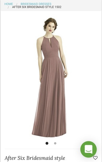 Dessy Sienna Chiffon After Six Style 1502 Modern Bridesmaid/Mob Dress Size 6 (S) Image 0