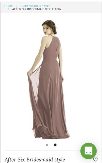 Dessy Sienna Chiffon After Six Style 1502 Modern Bridesmaid/Mob Dress Size 6 (S) Image 1