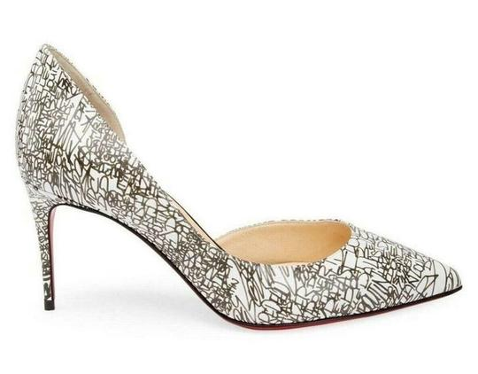 Christian Louboutin Heels Iriza D'orsay Signature White/Black Pumps Image 11