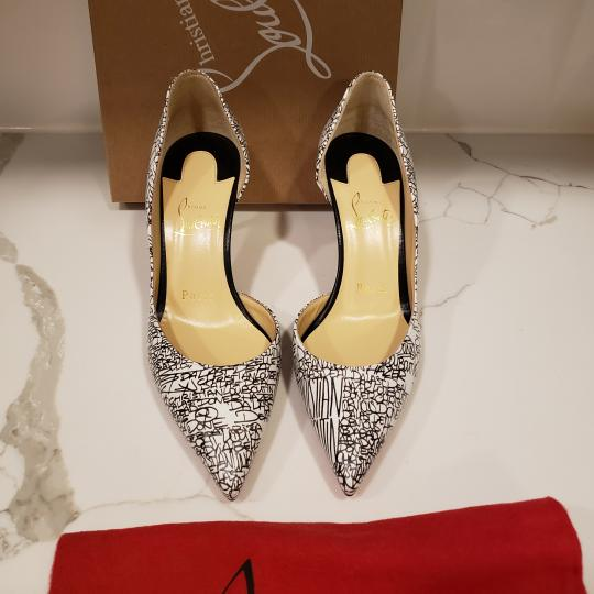 Christian Louboutin Heels Iriza D'orsay Signature White/Black Pumps Image 3