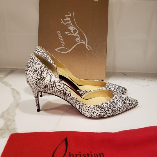 Christian Louboutin Heels Iriza D'orsay Signature White/Black Pumps Image 5