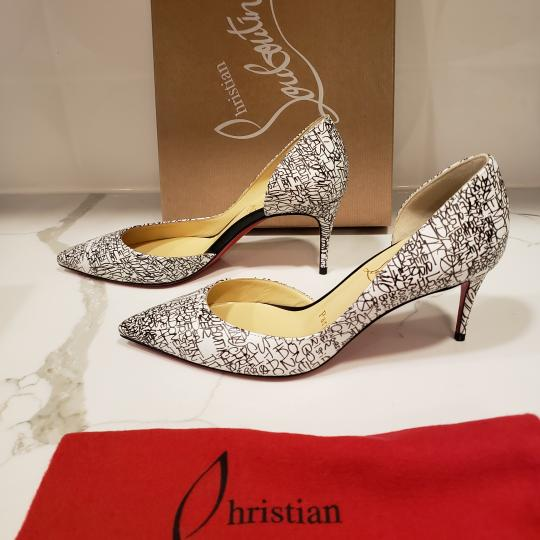 Christian Louboutin Heels Iriza D'orsay Signature White/Black Pumps Image 6
