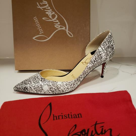 Christian Louboutin Heels Iriza D'orsay Signature White/Black Pumps Image 7