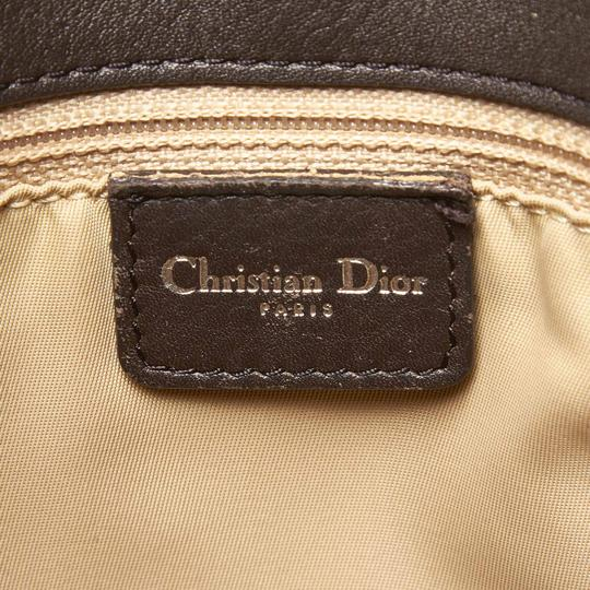 Dior 9hdrto003 Vintage Canvas Leather Tote in Brown Image 5
