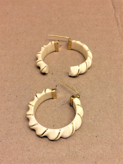 unknown PRE BAN Beautiful Ivory Wrapped in 14K GOLD. 3 Pc SET Image 10
