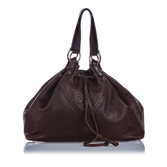 Saint Laurent 9gysto001 Vintage Ysl Leather Tote in Brown Image 0