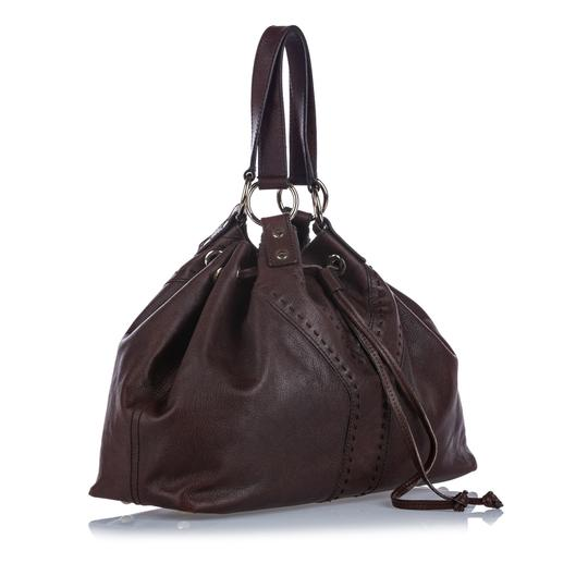 Saint Laurent 9gysto001 Vintage Ysl Leather Tote in Brown Image 1