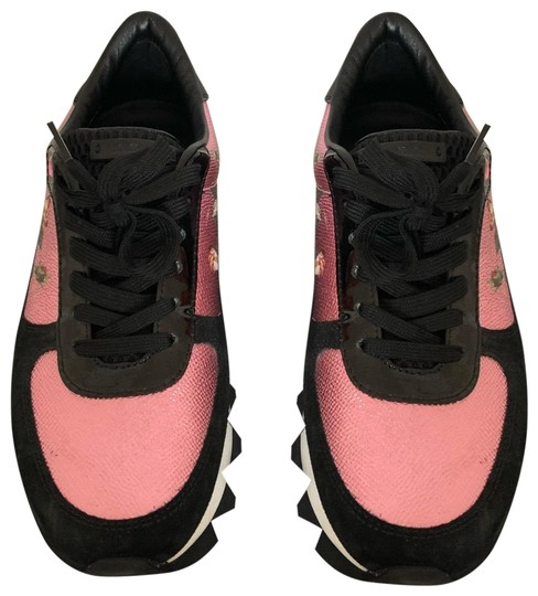 Preload https://img-static.tradesy.com/item/26039689/dolce-and-gabbana-black-and-metallic-rose-dolce-and-gabbana-flower-print-paneled-suede-sneakers-size-0-2-540-540.jpg