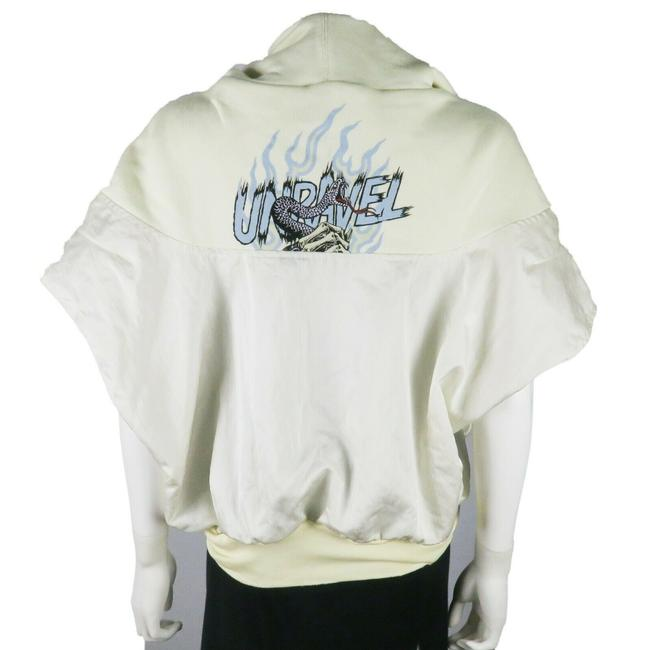 Preload https://img-static.tradesy.com/item/26039704/unravel-project-white-sweatshirt-print-zip-up-us-large-activewear-outerwear-size-14-l-0-0-650-650.jpg
