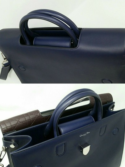 Dior Diorever Calfskin Large Book Tote in Navy Image 3