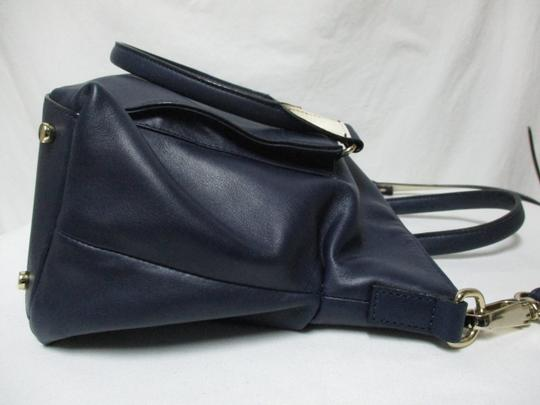 Kate Spade Purse Navy Leather Satchel in blue & white Image 11