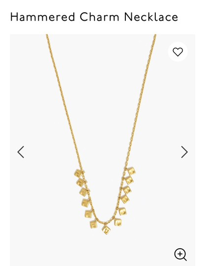 Madewell madewell Hammered charm necklace Image 2