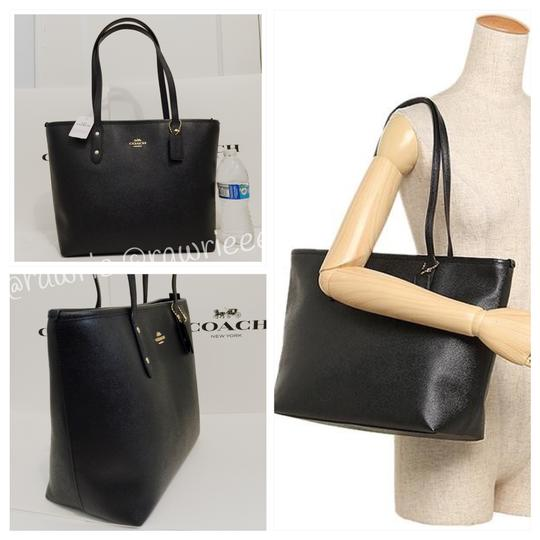 Coach Shoulder Leather F58846 Tote in Black Image 1