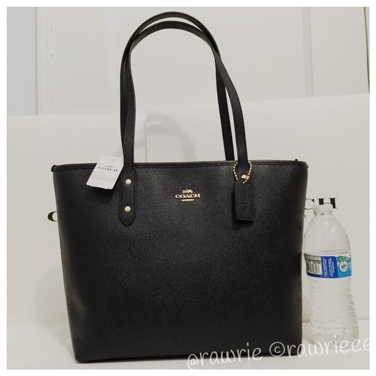 Coach Shoulder Leather F58846 Tote in Black Image 4