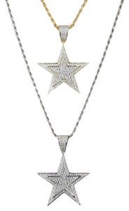 Harlembling Harlembling Solid 925 Silver Iced Out Hip Hop Diamond Star Superstar