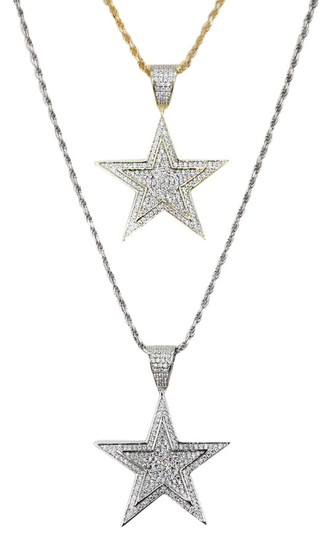 Preload https://img-static.tradesy.com/item/26039793/solid-925-silver-iced-out-hip-hop-diamond-star-superstar-charm-0-3-540-540.jpg