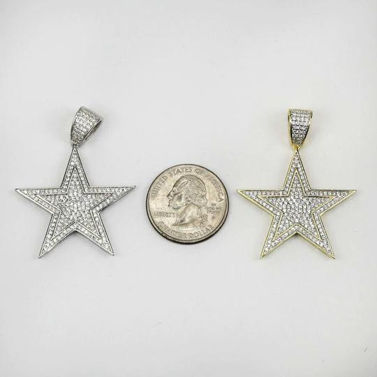 Harlembling Harlembling Solid 925 Silver Iced Out Hip Hop Diamond Star Superstar Image 3