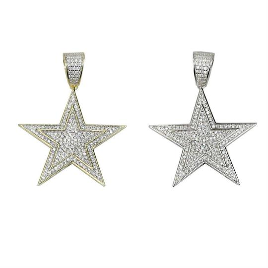 Harlembling Harlembling Solid 925 Silver Iced Out Hip Hop Diamond Star Superstar Image 4