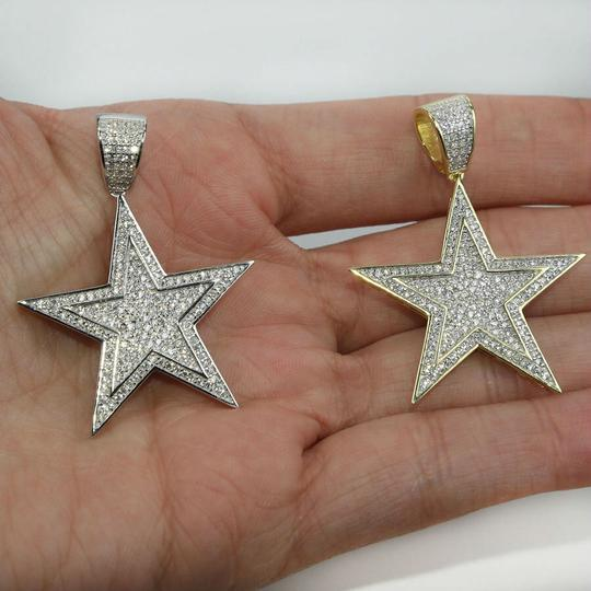 Harlembling Harlembling Solid 925 Silver Iced Out Hip Hop Diamond Star Superstar Image 7