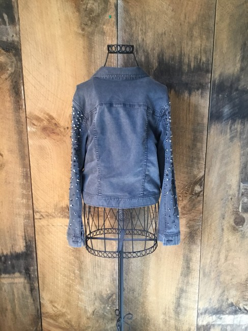 Alice + Olivia Gray Womens Jean Jacket Image 1