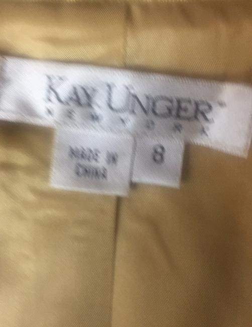 Kay Unger luxury gold Lamae and glitter sequin skirt suit Image 6