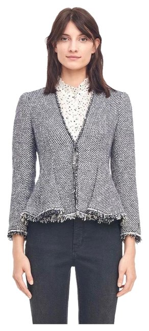 Preload https://img-static.tradesy.com/item/26039858/rebecca-taylor-women-s-navy-lurex-tweed-blazer-jacket-size-12-l-0-2-650-650.jpg