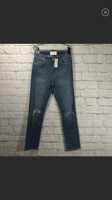Current/Elliott Straight Leg Jeans-Light Wash Image 1
